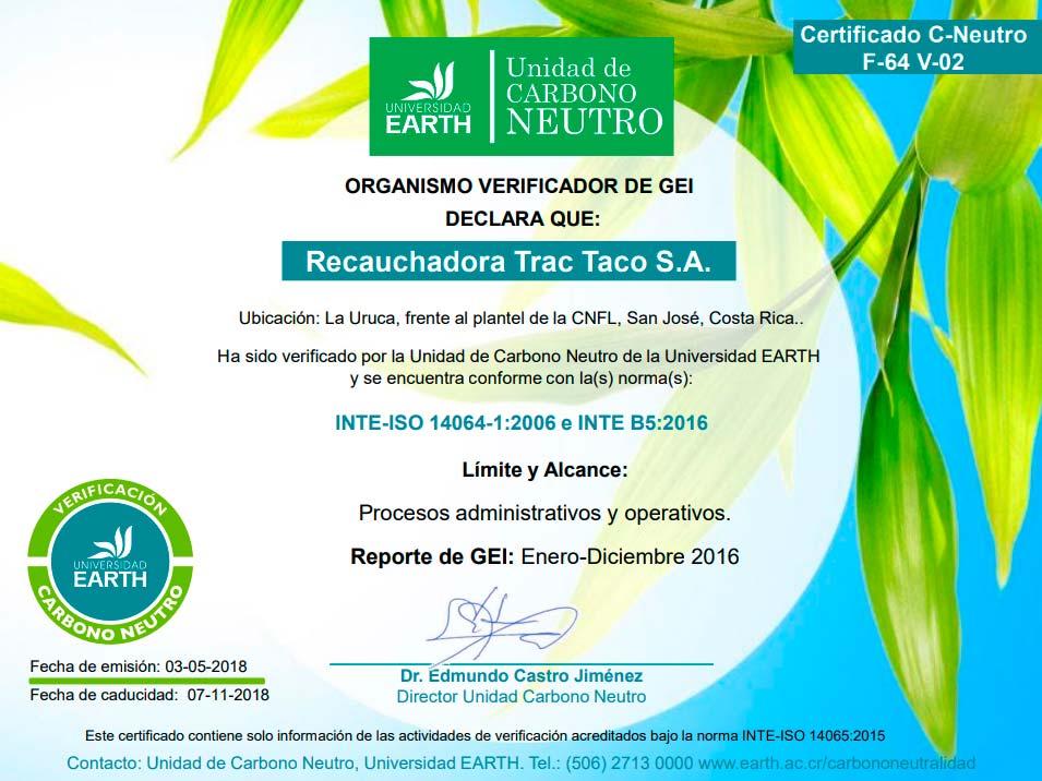 Certificado Carbono Neutro